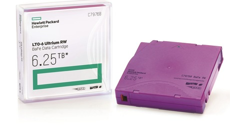 Image of HPE LTO 6 Ultrium (BaFe) Tape