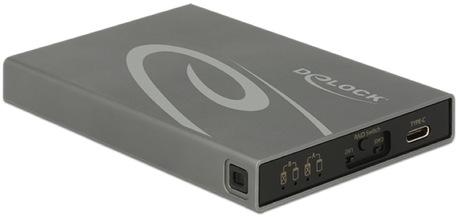 Image of Delock 2x M.2 SATA SSD - USB 3.1 Gehäuse