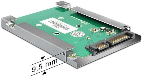 Image of Delock mSATA - SATA 9,5 mm Adapterrahmen