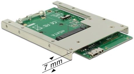 Image of Delock Konverter USB 3.0 - mSATA 2.5