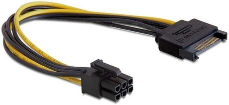 Image of Delock PCI Express-Stromadapter 6 pol.