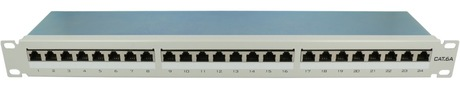 Image of Patchpanel RJ45 LSA+ 24-fach Cat6a