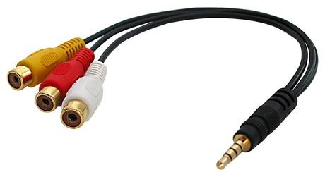 Image of Adapter 3xCinch Bu - KlinkenSt 3,5mm