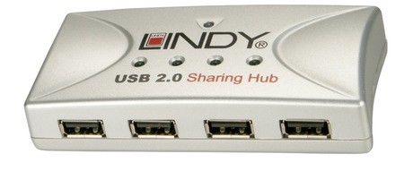 Image of LINDY USB Share 2PC-4USB 2.0 Geräte