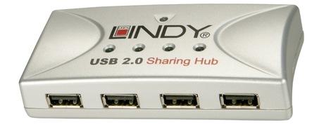 Image of LINDY USB Share 2PC-4USB 2.0 Geräte