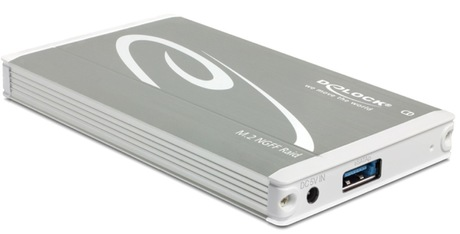 Image of Delock 2 x M.2 SATA - USB 3.1 Gehäuse