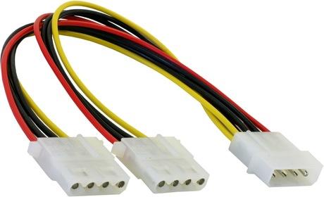Image of Stromadapter 4pinSt - 2x4pinBu 0,11 m