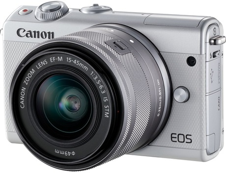 Image of Canon EOS M100 + EF-M 15-45 Kit weiß