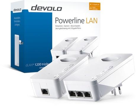 Image of devolo dLAN 1200 triple+ Starter Kit