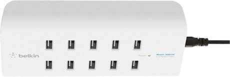 Image of Belkin USB-Ladestation 10 Port weiß/grau