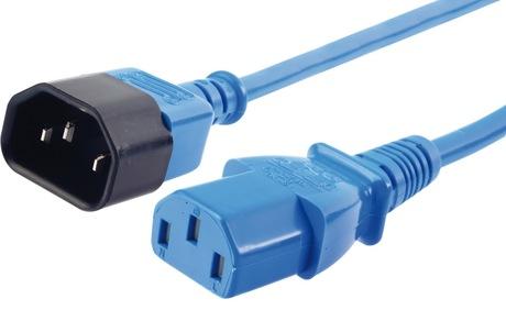 Image of Netzkabel C13Bu - C14St 0,5 m blau