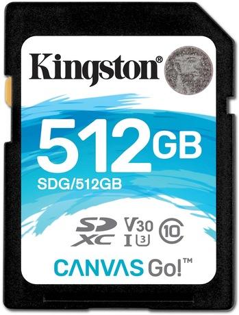 Image of Kingston Canvas Go 512 GB SDXC