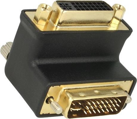 Image of Adapter 90°oben DVI-I Bu - DVI-I St