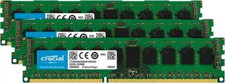 Image of Crucial 24GB 3x8GB DDR3 1600MHz Speicher