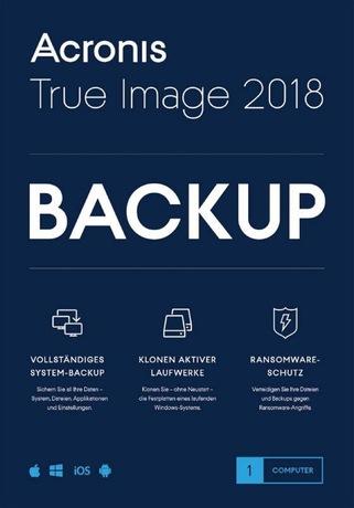 Image of Acronis True Image 2018 für PC (Schweizer Ausführung)