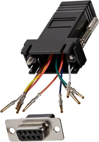 Image of Modular-Adapter DB9 Bu - RJ45 Bu schwarz
