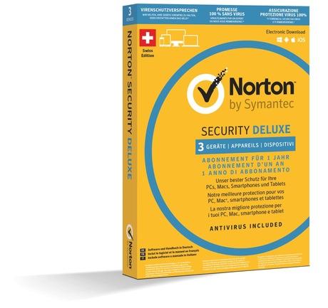 Image of Norton Security Deluxe 3.0 1U 3 Devices (Schweizer Ausführung)