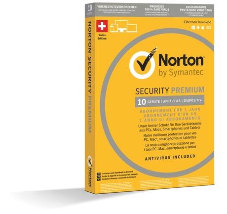 Image of Norton Security Prem. 3.0 1U 10 Devices (Schweizer Ausführung)