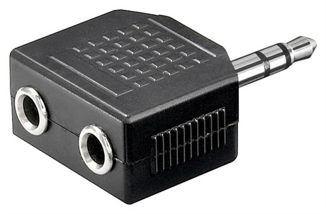 Image of Adapter KlinkenSt - 2x KlinkenBu 3,5 mm