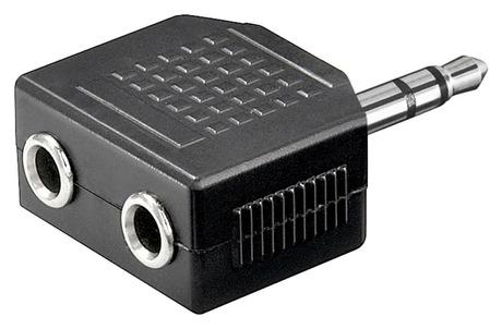 Image of Adapter KlinkenSt - 2x KlinkenBu 3,5 mm