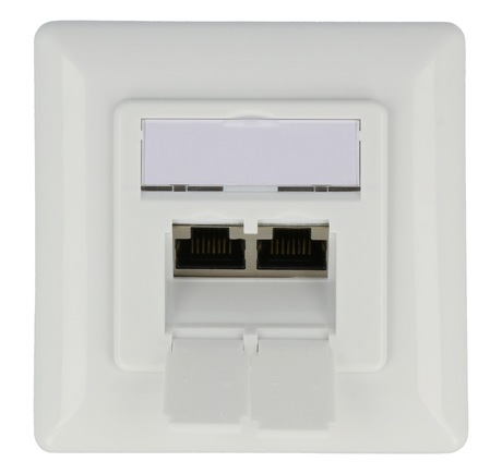 Image of RJ45-Dose UP 2-fach LSA+ Cat6a weiß